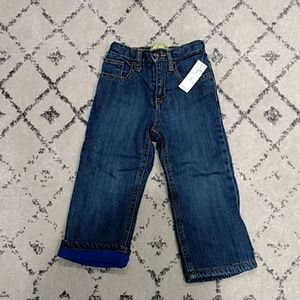 NWT Old Navy Toddler Boys Fleece Lined Jeans 2T